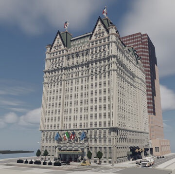 The Plaza Hotel (FULL INTERIOR) Minecraft Map & Project