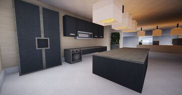 Modern house - Chisel&bits 4 Minecraft Map & Project