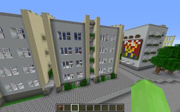Soviet Apartment Building [some interior included] Minecraft Map & Project