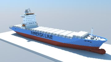 Maersk Penang (1:1 Scale Container Ship) Minecraft Map & Project