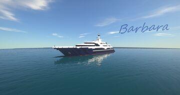 Barbara | Super Yacht (ShipSide) Minecraft Map & Project