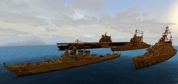 Fictional Fleet WW2 Inspired Minecraft Map & Project