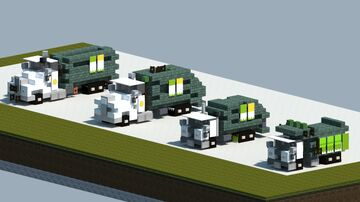Dreamy's Pack of 'waste management' garbage trucks [With Download] Minecraft Map & Project