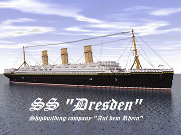 Ocean liner SS Dresden Minecraft Map & Project