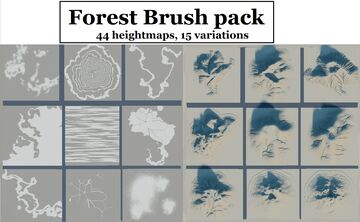 Worldpainter brushes | Forest brushes | 44 Different heightmaps Minecraft Map & Project