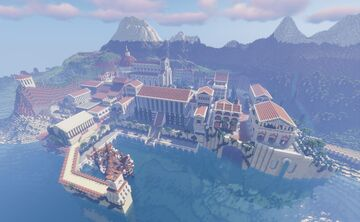 Marcidona - yet another Mediterranean port city Minecraft Map & Project