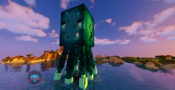 🐙 Minecraft GLOW SQUID statue - My Cool Base 🐙 Minecraft Map & Project