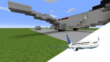 Boeing 737-100 1:5:1 [DOWNLOAD] Minecraft Map & Project