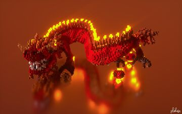 Lunar New Years Dragon Minecraft Map & Project