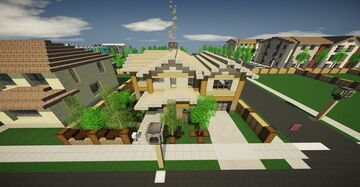 Upper middle class home #5 - The wooden v2 Minecraft Map & Project