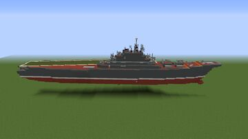 Kiev class Soviet aircraft carrier 1/2 scale Minecraft Map & Project