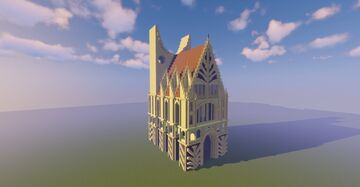 Art Deco & Gothic Style Cathedral Minecraft Map & Project