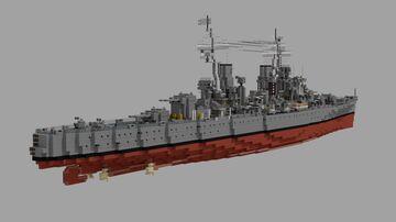 HMS MINOTAUR 1:1 Scale Minecraft Map & Project