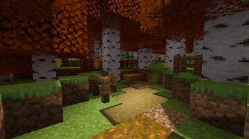 Vermont Autumn Leaf Litter Trail Minecraft Map & Project