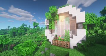Modern Tiny House (How to build) Tutorial + Download Minecraft Map & Project