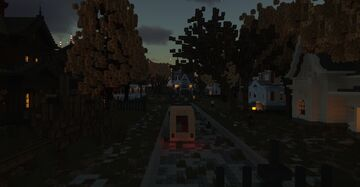 Spooky Victorian Halloween Themed Street Minecraft Map & Project