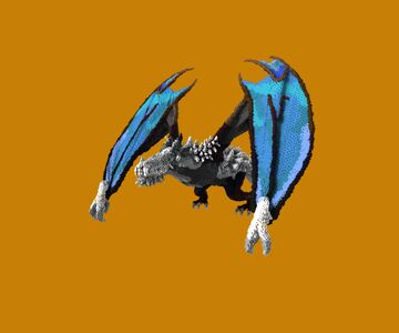 Gigantic Blue-Winged Thorny dragon Minecraft Map & Project