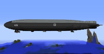 A Quiet Giant - German X-class Zeppelin (inspired) rigid airship Minecraft Map & Project