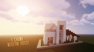1 Chunk Modern House Minecraft Map & Project