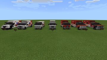 AMR, Care and LAFD ambulance pack Minecraft Map & Project