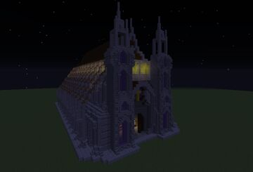 Purple cathedral Minecraft Map & Project