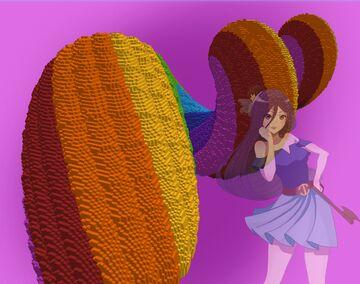 Rainbow Sona spiral Minecraft Map & Project