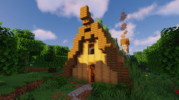 Cozy A-frame Cabin W/ Tutorial Minecraft Map & Project
