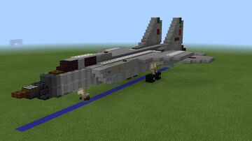 1.5:1 scale MiG-31 Foxhound Minecraft Map & Project