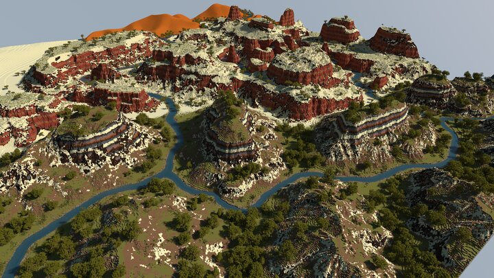 Red Canyons and Badlands