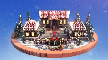 Lobby / Hub - Christmas House 1.10.X - 1.16.X Minecraft Map & Project