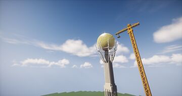 Bayterek Astana,Kazakhstan Minecraft Map & Project