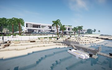 Modern Mansion 3 Collab with Gangstahh! ||BPN SERVER Minecraft Map & Project