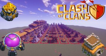 Clash Of Clans- Structures Building /DOWNLOAD Minecraft Map & Project