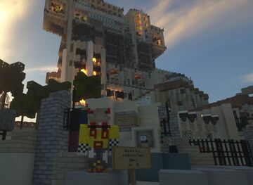Tower of Terror DCA Hollywood Tower Hotel Minecraft Map & Project