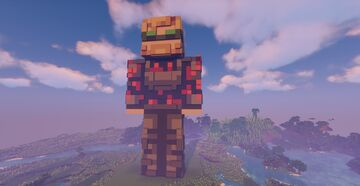 PewDiePie Statue Giant 200 FT - download Minecraft Map & Project
