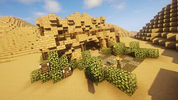 Medieval Desert House (1) - Minecraft Cinematic + Free Download Minecraft Map & Project