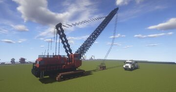 A Manitowoc 4600 Strip Mining Dragline Minecraft Map & Project