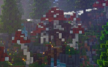 ☾ Mushroom Abode ☽ | The Loft MC Minecraft Map & Project
