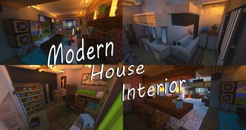 Modern interiors of rich family with dark secret! Minecraft Map & Project