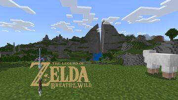 Hyrule from Zelda: BOTW (java+bedrock) Minecraft Map & Project