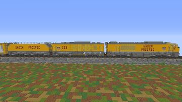 Union Pacific Gas Turbine Electric Locomotives (GTEL) [3rd Generation] Minecraft Map & Project