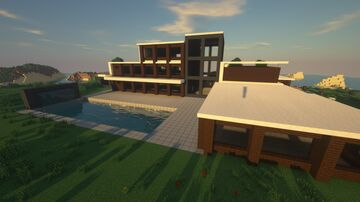 [UNFINISHED] Modern Beachside Mansion Minecraft Map & Project