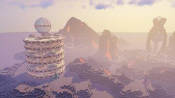 Easy Large Futuristic Tower - Minecraft Futuristic Build - Sci-Fi Minecraft Map & Project