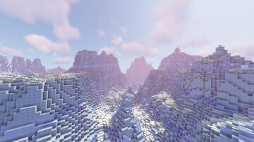 Frost - The Icy Cliffs of Trenistok - 1024 x 1024 Concept Worldpainter Map Minecraft Map & Project