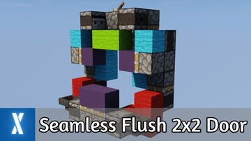 Compact Seamless Flush 2x2 Door Minecraft Map & Project
