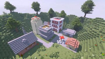 A selbuilding city Minecraft Map & Project