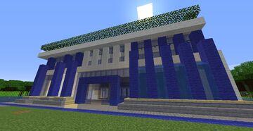 Modern House - Modern Villa House Minecraft Map & Project