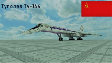 TUPOLEV TU-144 (ALL VERSIONS) [FULL INTERIOR] Minecraft Map & Project