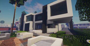 Modern Mansion #1 + Schematics Minecraft Map & Project