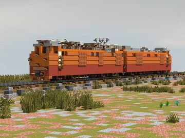 Russian Traction unit OPE-1 (ОПЭ-1) Minecraft Map & Project